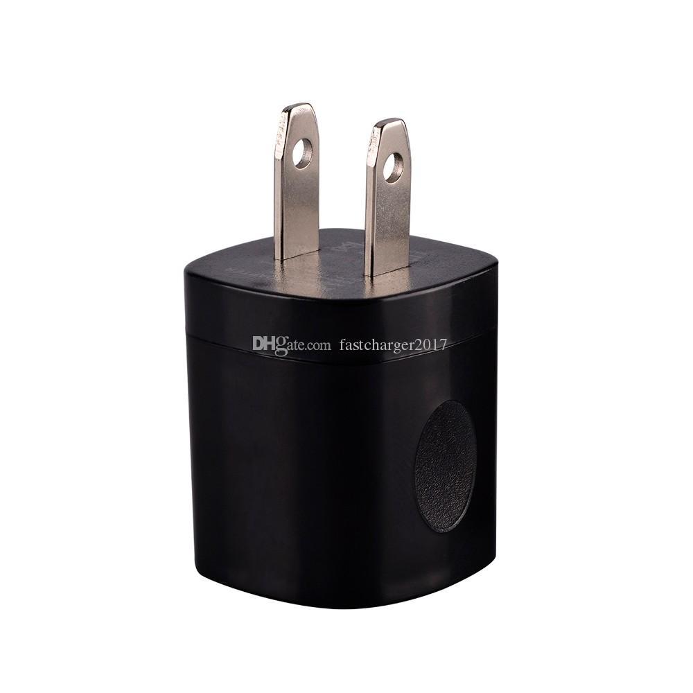 5V 1A 미국 AC 여행 벽 충전기 전원 어댑터 플러그 삼성 S8 S10 노트 10 HTC 안드로이드 전화 PC MP3