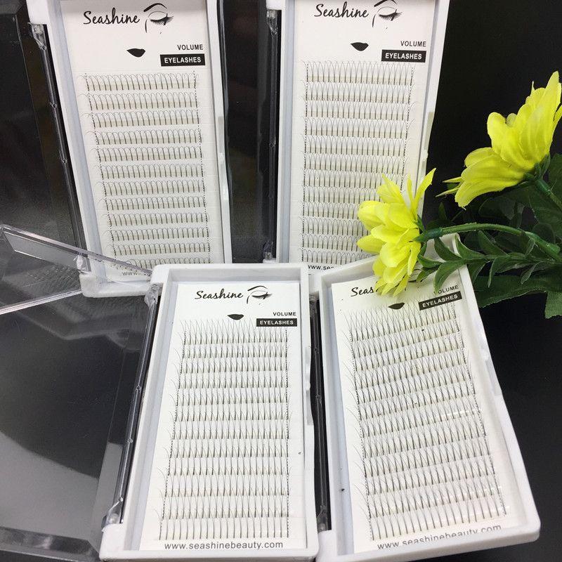 2 trays premade volume fans lashes C D culr 0.07/0.10mm thickness 2D individual eyelash false eyelash extensions handmade top quality