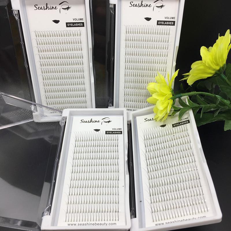 6 bandas pestañas de volumen 2D ventiladores prefabricados C D culr 0.07 / 0.10 mm de espesor pestañas individuales 2D extensiones de pestañas falsas hechas a mano de calidad superior