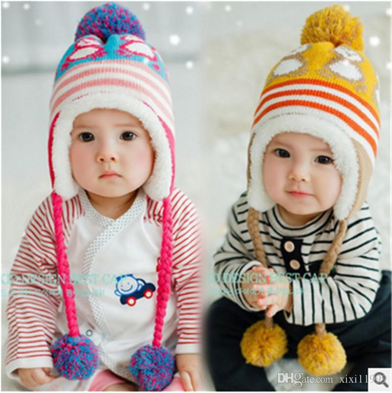 79799ad999cae 2019 Baby Hat 6 12 Months 1 2 Year Old Baby Autumn And Winter Child Cover  Head Warmth Plus Fluff Thread Kid S Hat From Xixi11999