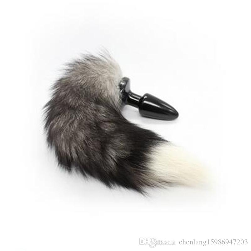 New Fox Tail Chrome Steel Butt Anal Plug Sex Body Swing Toy Fun Adult Plot Role-playing Toys Sex Toys For Couples SM Appliance