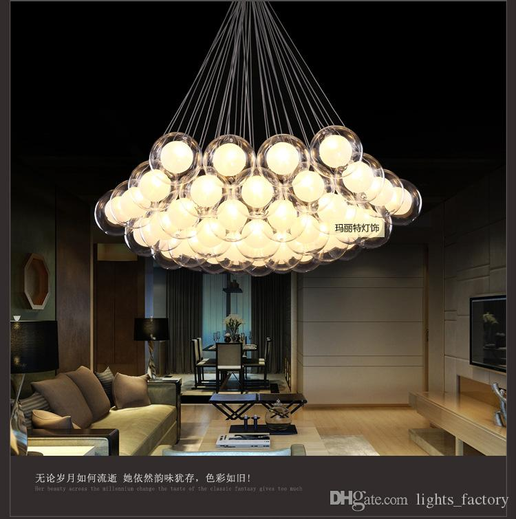 New modern glass bubble ball pendant lamp bedroom restaurant long new modern glass bubble ball pendant lamp bedroom restaurant long creative glass ball chandelier pendant lamp mozeypictures Image collections