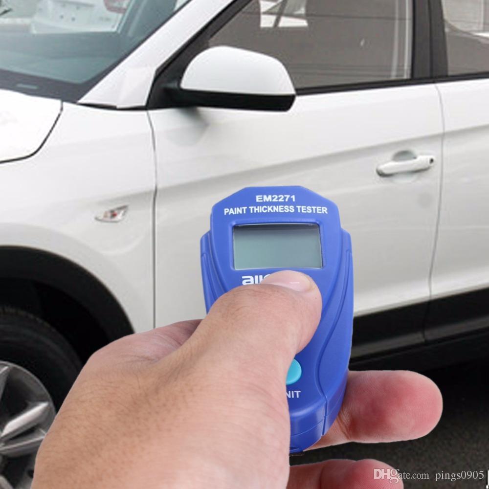 Misuratore di spessore del tester di spessore della vernice auto digitale Mini Misuratore di spessore del misuratore di spessore automobili portatile digitale Strumento di diagnostica manuale russo