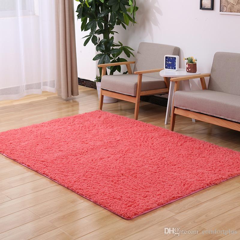 Modern Lambs Wool Carpet Bedroom Rug Living Room Bathroom