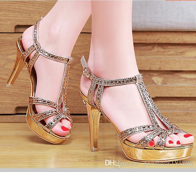 sandals sexy rhinestone