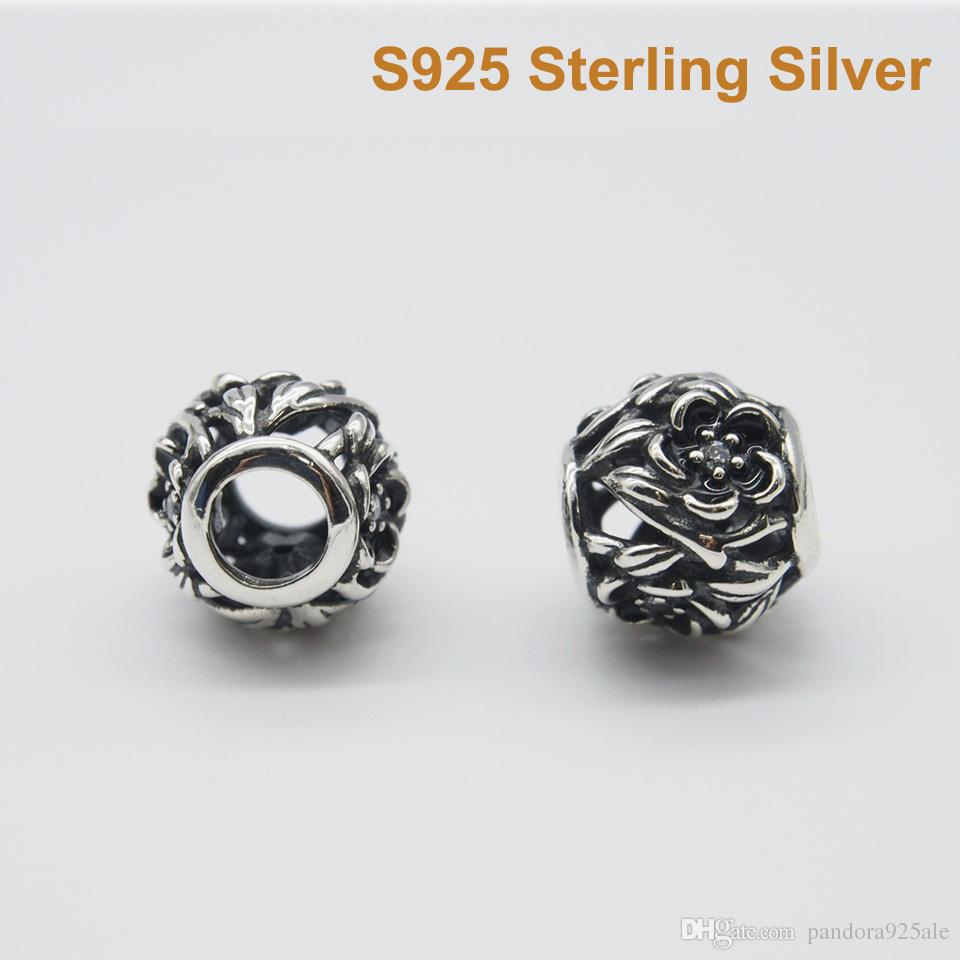 765b36864 2019 Fits Pandora Bracelet&Charms OPENWORK ENAMEL FLOWER CHARM DIY Beads  Solid 925 Silver Not Plated From Pandora925ale, $9.55 | DHgate.Com