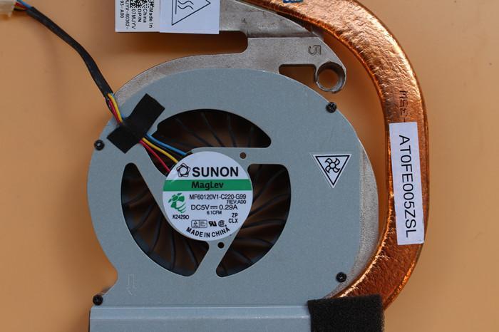 Nuevo ventilador de refrigeración para portátil original para DELL E6420 Latitude módulo de radiador de latón ventilador 07MJYV