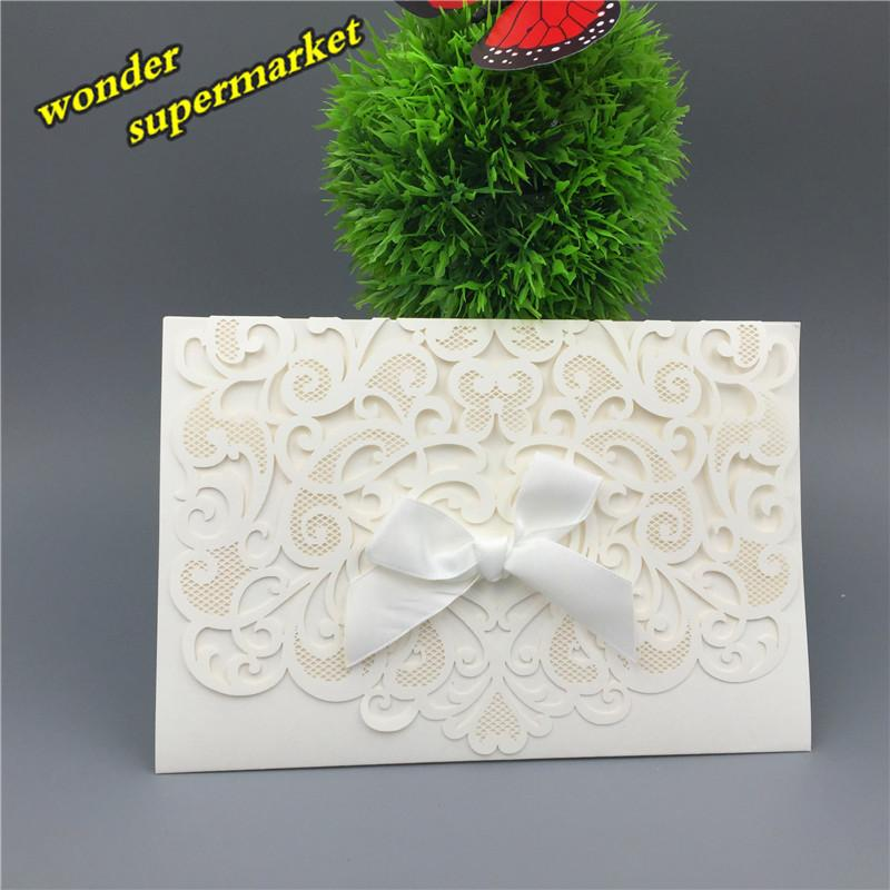 Wholesale laser cut ribbon bow printing wedding invitations cards wholesale laser cut ribbon bow printing wedding invitations cardsenvelopesseals wedding supplies baby shower party decoration custom holiday greeting m4hsunfo