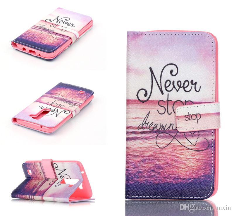 Anchor Dream Catcher Flower Game Funda de Cuero con Tapa Búho para Samsung Galaxy S7 Edge A3 A5 A7 A7 2016 A310 A510 A710 J5 LG G5 V10 K7 K10