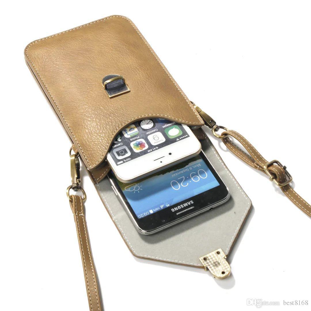Iphone XR XS MAX 10 X 7 6 Galaxy Note 9 8 5 S9 10.5 * 18CM Borsa a tracolla a strappo da 6,3 pollici Borsa universale a tracolla in pelle PU Rhinoceros
