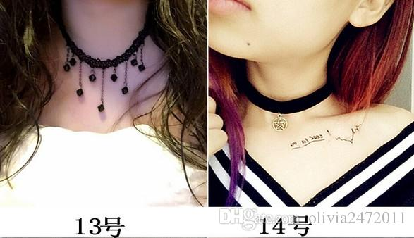 Designs Mix New Brand Fashion Punk Necklaces Jewelry Multi Mix Pendants Choker Necklace Leather Rope Chain WL