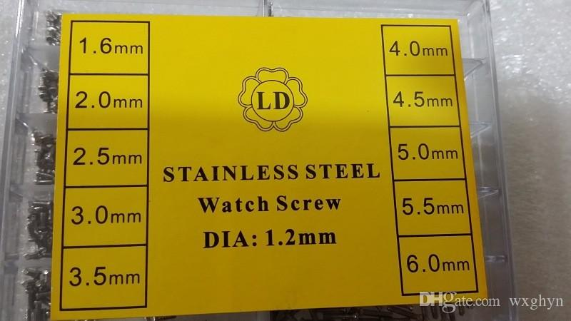 특수 스테인레스 스틸 시계 나사 DIA 1.2MM 시계 시계에 대 한 안경 시계 제조 업체 수리 부품 도구 뜨거운 판매, 전체 크기 손목 시계 나사