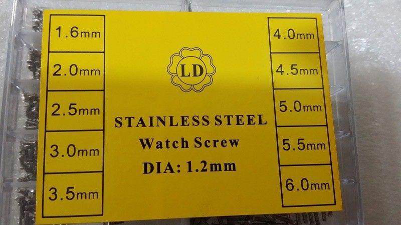 Vite da orologio speciale in acciaio inossidabile DIA 1.2MM orologio da polso, occhiali da vista, orologiaio, riparazione, parti, vendita calda, viti da polso a grandezza naturale