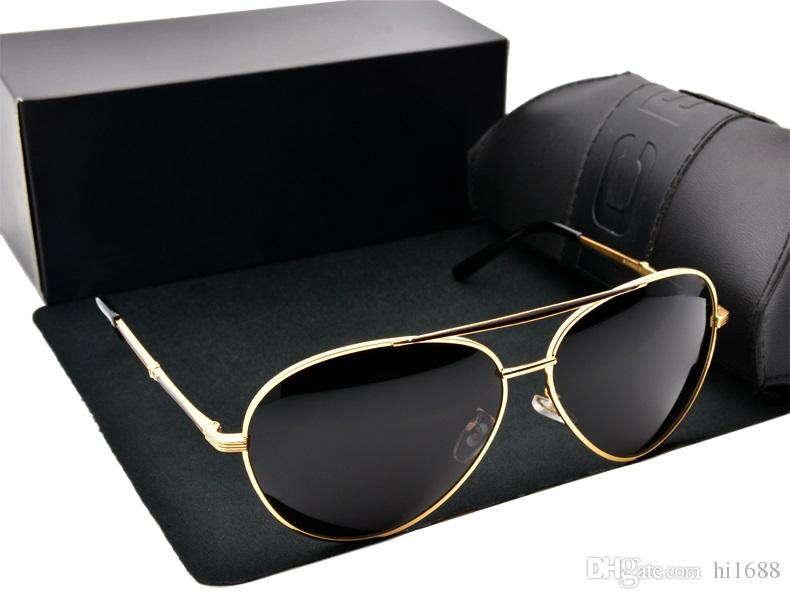 2020 Venda Quente Novo Estilo Estilo Óculos De Desenhista Polarizado Driving Sunglasses Marca Design Óculos de Sol Homens óculos são masculinos com case gratuito