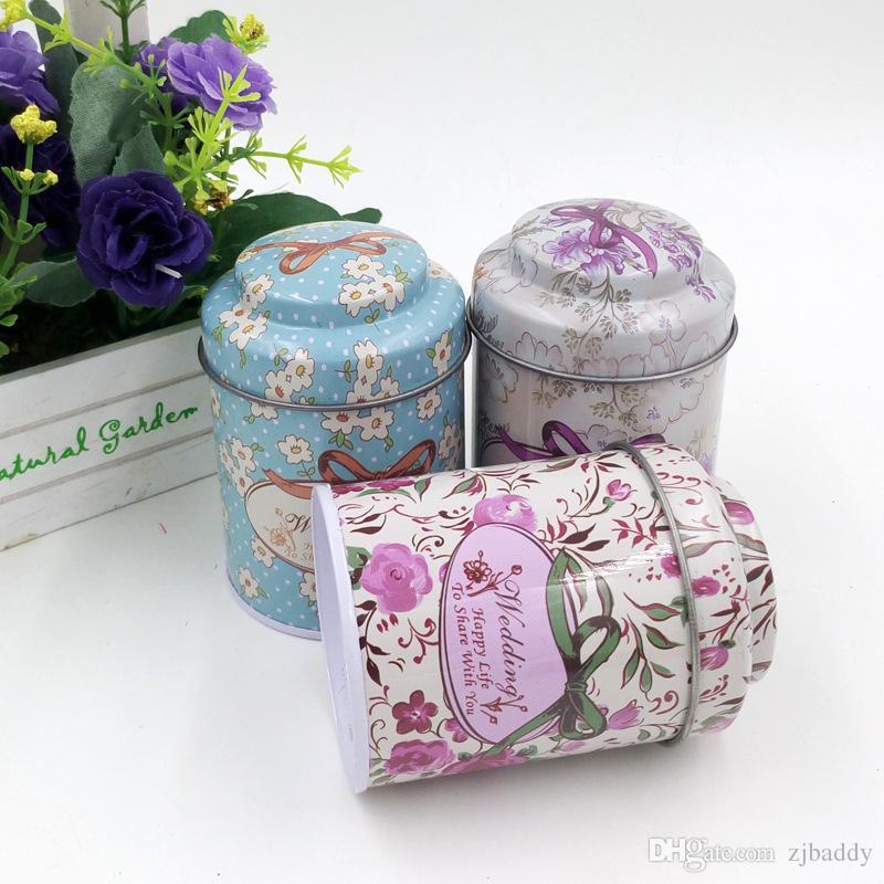 Wedding Favor Tin Candy Box Coffee Sugar Tea Tin Box Storage Creative Mushroom Tea box wholesale
