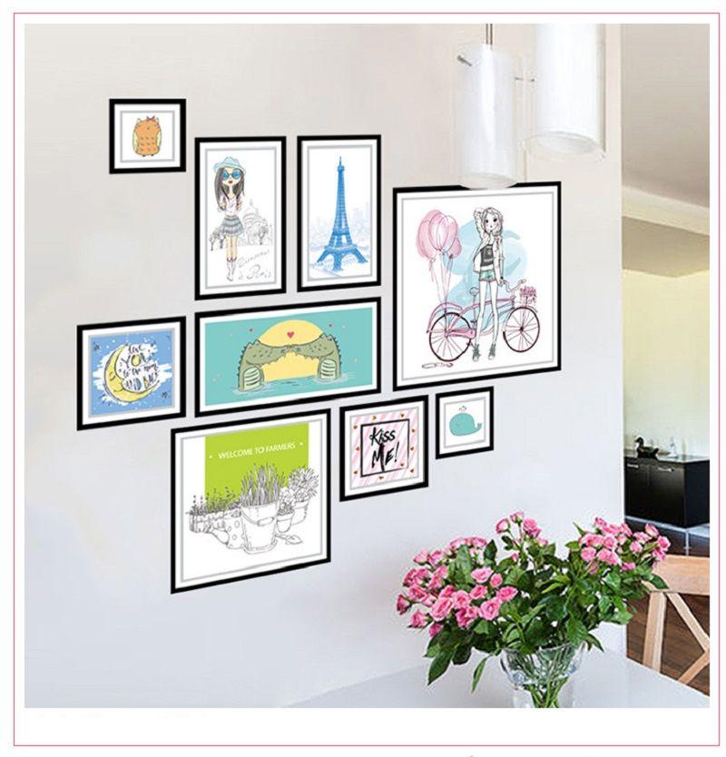XH9285 3D DIY Photo Frame Tree Wall Stickers Family Cartoon Memory Tree Wall Decor Decorative Adesivo De Parede Home Decor
