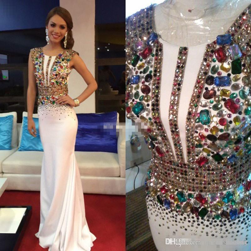 white chiffon pageant dress