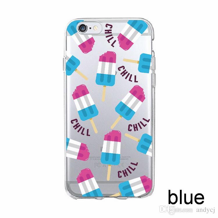 Phone Cases for iPhone 8 8Plus X 7 7Plus 7 6 6Plus 5 Soft TPU Transparent Cute Fruit Pizza Pattern Case Cover