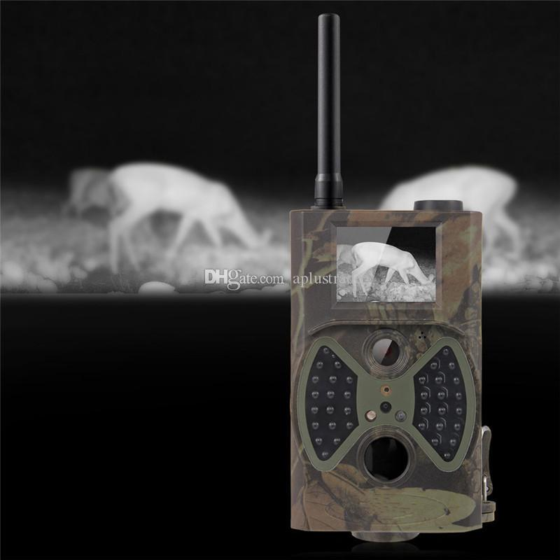 HC-300M Trail Hunting Camera Photo Trap MMS SMS GSM GPRS 12MP HD Wild Camouflage Vedio Game Cameras with IR LEDs