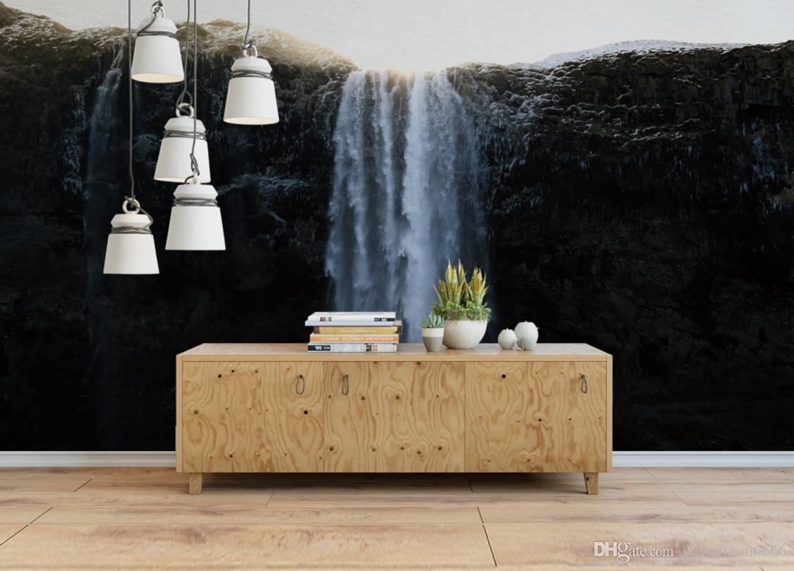 Großhandel 3D Wandpaneele Wasserfall Europäischen Stil Vlies Tapeten ...
