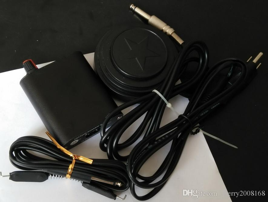 プロラウンドブラックスター/ yinyangタトゥーフットペダルスイッチ+タトゥー電源+タトゥー電源セットキット