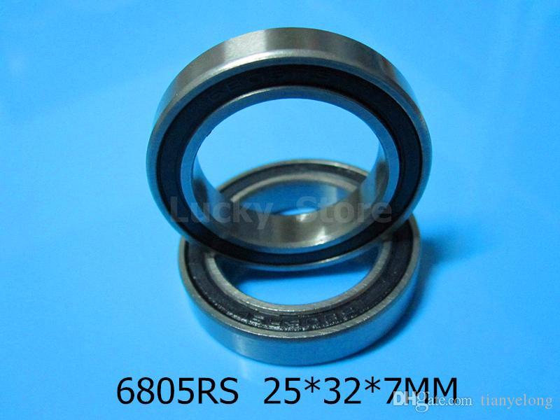 6805 RS rolamento frete grátis 6805 6805RS 25 * 37 * 7mm sulco profundo de aço cromado Rolamento selado de borracha rolamento de parede fina