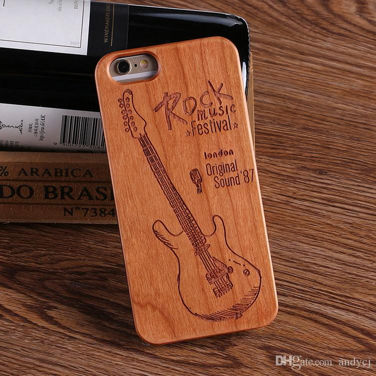 Cool Music Rock Guittra Wood case phone cases for iPhone 7 plus 7 6 6S 6 Plus 8 8 plus X SAMSUNG
