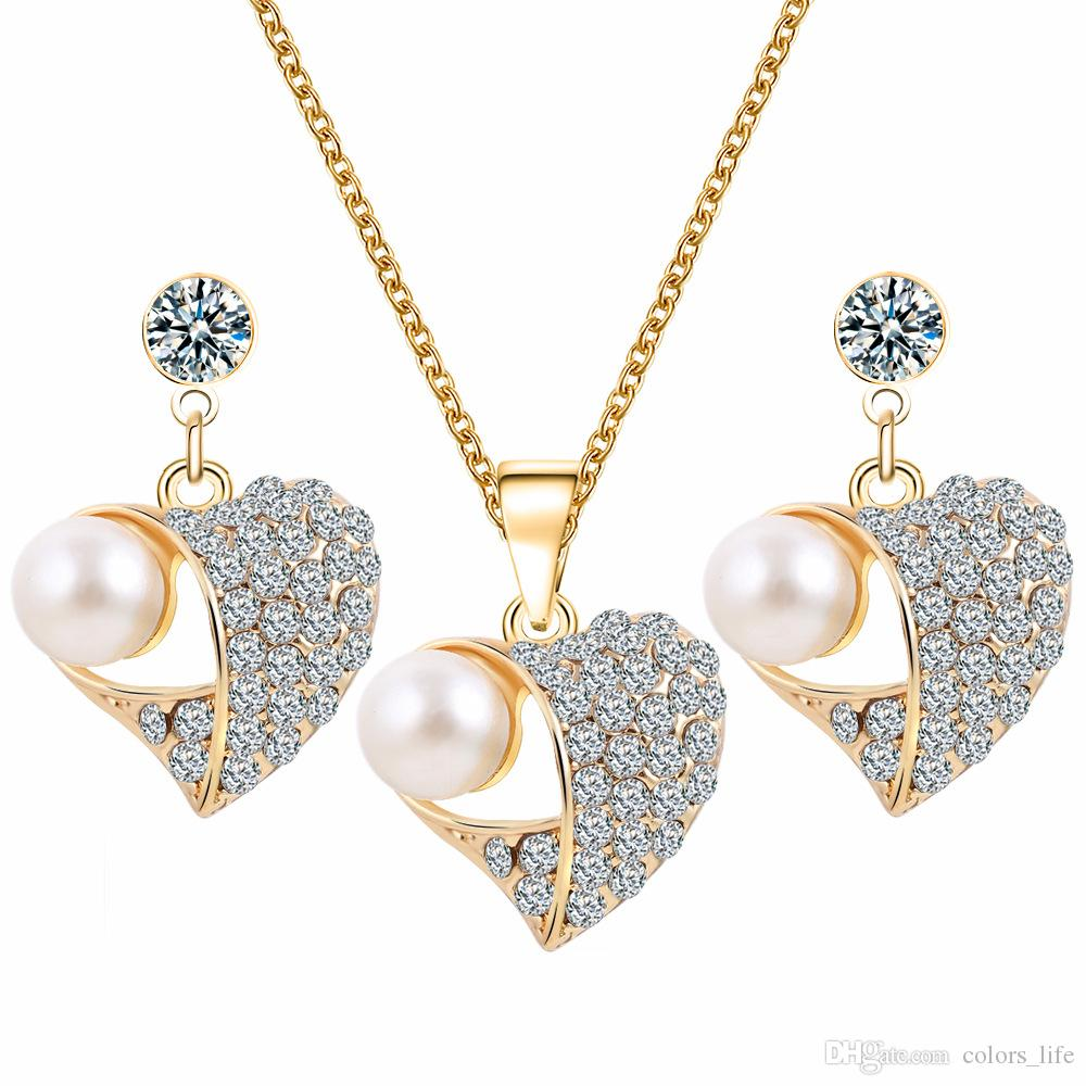 a8cb7eb95 2019 Of Earrings +1 Necklace Jewelry Set Fashion Earrings High Quality  Necklace Factory Direct Christmas Party Jewelry From Colors_life, $3.97 |  DHgate.Com