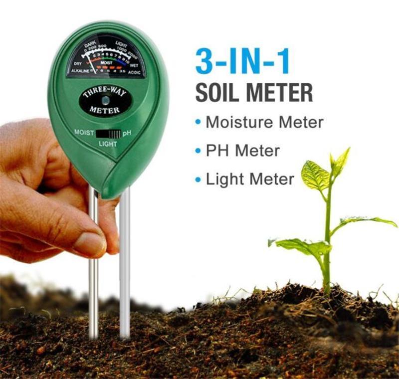 3 في 1 التربة الرطوبة متر الكاشف ضوء و ph اختبار وظيفة حديقة النباتات التربة المياه محلل كشف الرطوبة الرطوبة متر