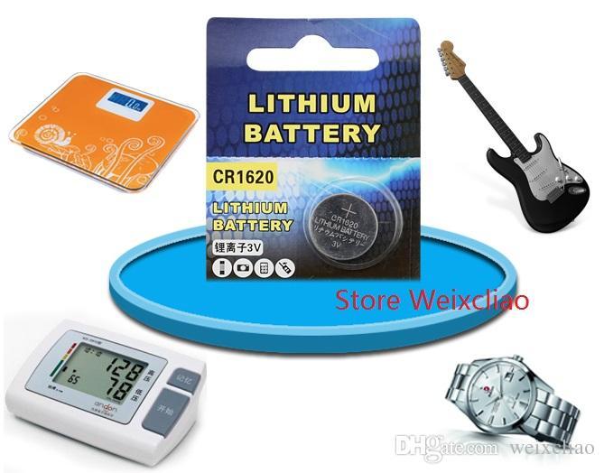 500 pz 1 lotto CR1620 3 V batteria agli ioni di litio a bottone batteria CR 1620 3 Volt batterie agli ioni di litio Spedizione Gratuita