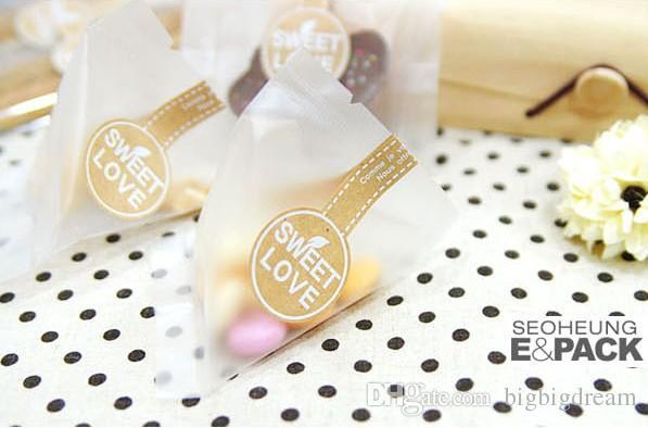 400 pçs / lote Celofane Scrub Cookie Bag claro / Para O Presente Padaria Macaron Embalagem Embalagem De Plástico / Natal 11.5 * 14.5 cm