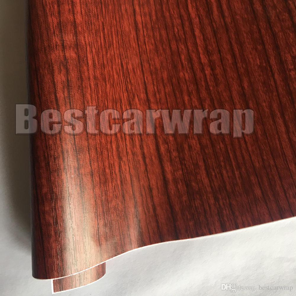 2018 Wood Grain Faux Finish Textured Vinyl Wrap Paper Film For Car Home  Office Furniture Diy No Mess Easy To Install Air Release Adhesive From  Bestcarwrap, ...