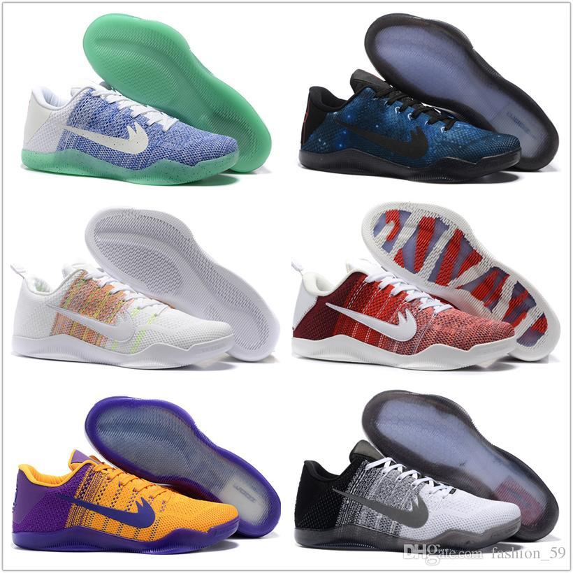 timeless design c1928 09d7e Compre Zapatos Nike Kobe XI Elite Baja Baloncesto De Los Hombres Originales  Del 100% 2016 Nueva Llegada De Las Zapatillas De Deporte Barato Retro  Tejiendo ...