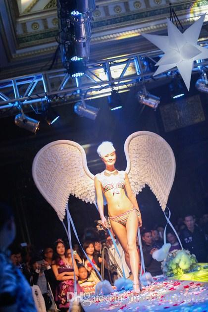 Nouvelle plume Ailes d'ange mariage photographie modèles-show / performances de grande taille props COSPLAY EMS Livraison gratuite