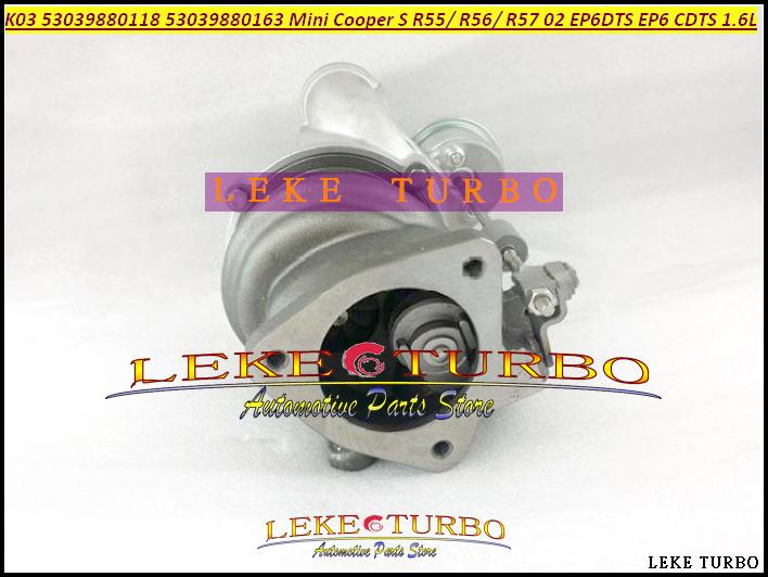 TURBO K03 53039880118 53039700118 53039880163 53039880181 53039700163 53039700181 For BMW Mini Cabrio Cooper EP6 EP6DTS N14 1.6L (3)