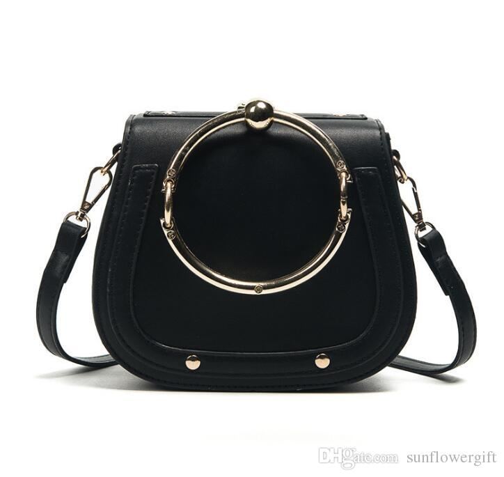 Unique Design Women Bucket Handbag Retro Metal Ring Luster Lady Crossbody  Bag Vintage PU Leather Shoulder Bag Purses Designer Handbags From  Sunflowergift 3a92c34879d8a
