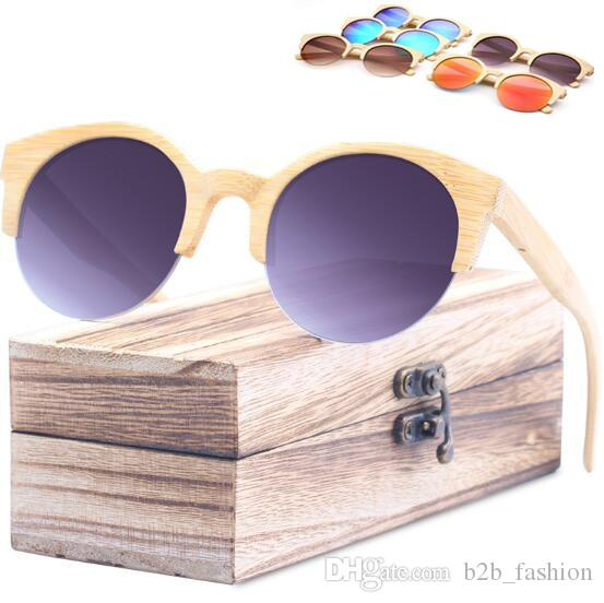 7f7c426f44a Wooden Sunglasses Personality Sunglasses for Unisex Luxury Brand ...