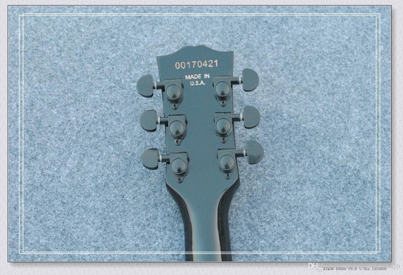 Chitarra originale Nuovo arrivo les Nero Grigio Custom paul Chitarra elettrica Strumenti musicali di alta qualità