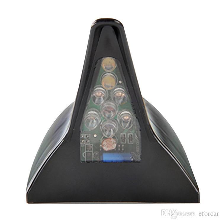 Güneş 8 led çatı spoiler köpekbalığı yüzgeci anten yanıp sönen ışık araba dekoratif ışıklar modifikasyonlar led flaş ışığı