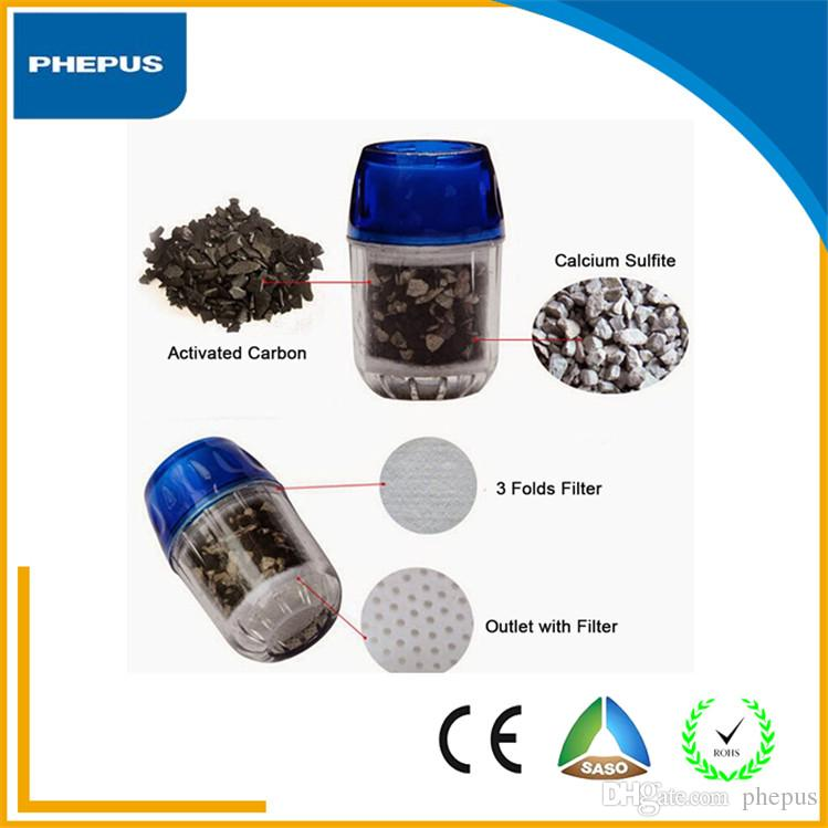 new design and high flow household tap water filtersmall water activated carbon water filters and fast flowing water