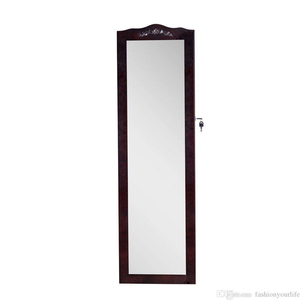 Acquista Supporto A Muro Armadietto Gioielli Con Specchio A Specchio ...