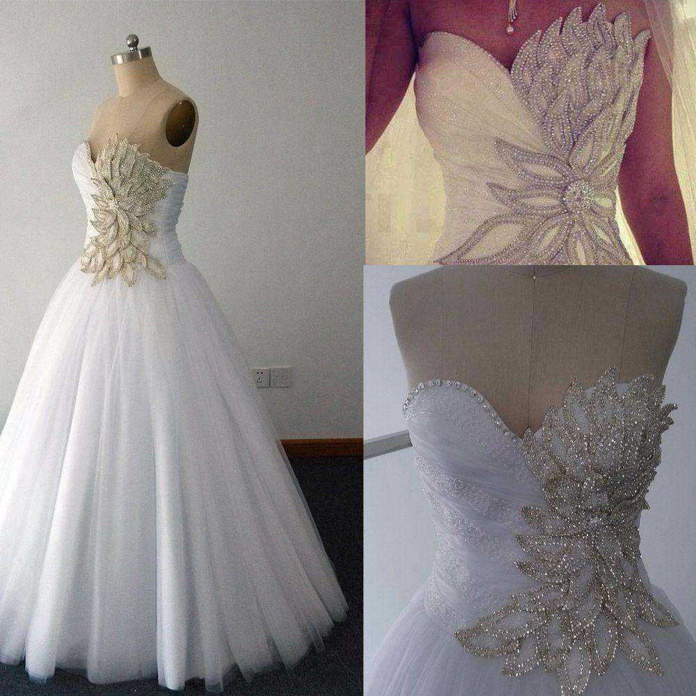 Crystal Wedding Dresses Vintage Ball Gown Vestidos De