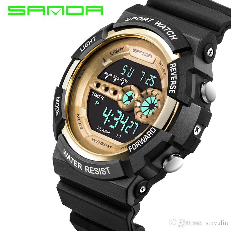 watches from for military waterproof men relogio electronic in sport watch sports resistant digital masculino outdoor fitness brand sanda led watchmens item