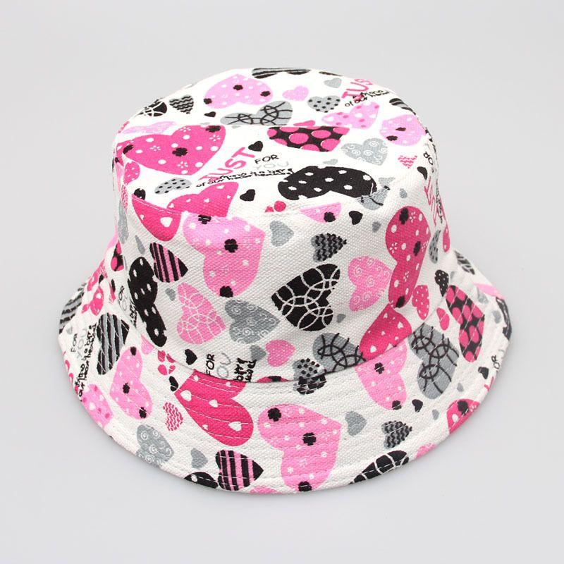أزياء دلو القبعات للأطفال الأزهار الفراولة الكرز أبل الحيوان المطبوعة طفل الفتيات الفتيان sunhats الرضع طفل طفل قبعات 30styles H-1