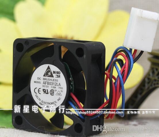 Delta AFB0312LA 30 * 30 * 10 12 V 0.08A 3 CM trois fil vitesse double balle silencieux ventilateur