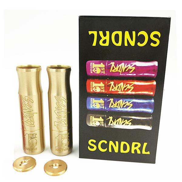 Scndrl Mod Mod Mecânica Scndrl Fit 18650 Bateria Para A Velocidade RDA atomizadores vs Rig V 2 Mod SMPL Mech Vape DHL livre
