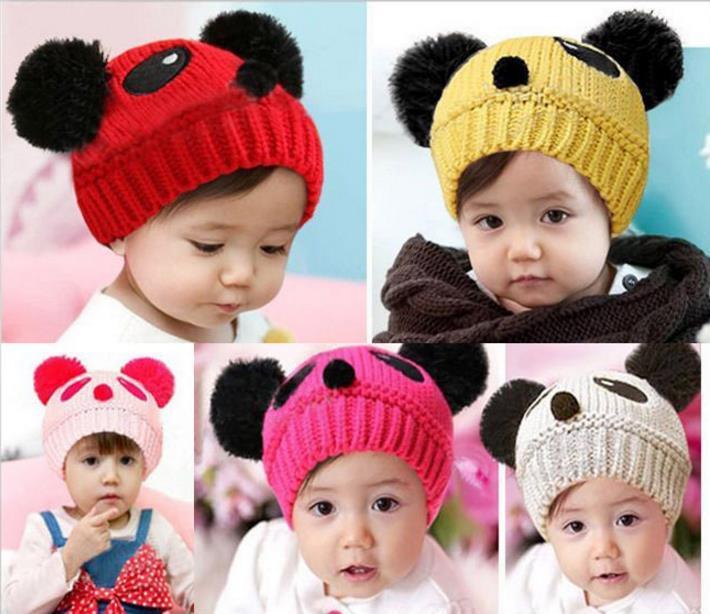 77da0131449 2019 2017 Hot Fashion Baby Hats Toddler Girl Boy Winter Warm Cute Panda Hat  Cap Beanie From Goodsellers2019