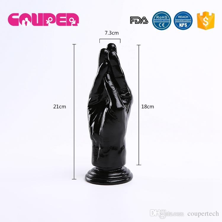 !21*7.5cm biack silicone big huge dildo hand large dildos,strong suction cup penis adult gay sex toys for women