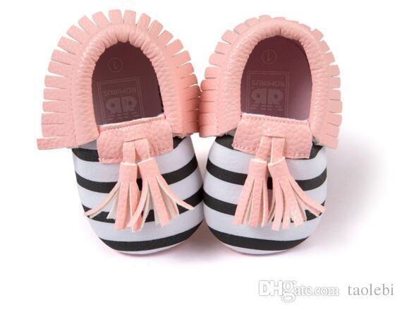 Romirus® Matt Texture Baby Läder Bowknot Tassel Fringe Moccasin Skor För Spädbarn Toddler
