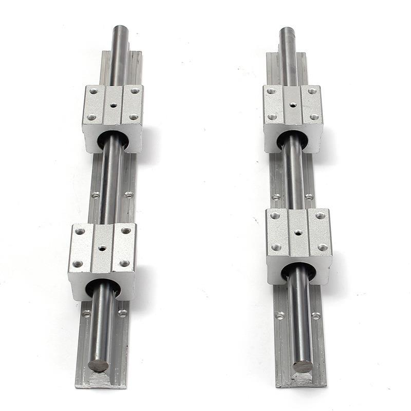 Freeshipping 2pcs\lot SBR12-300mm Supported Rails Carbon Steel +4pcs SBR12UU Pillow Bearing Blocks for DIY CNC